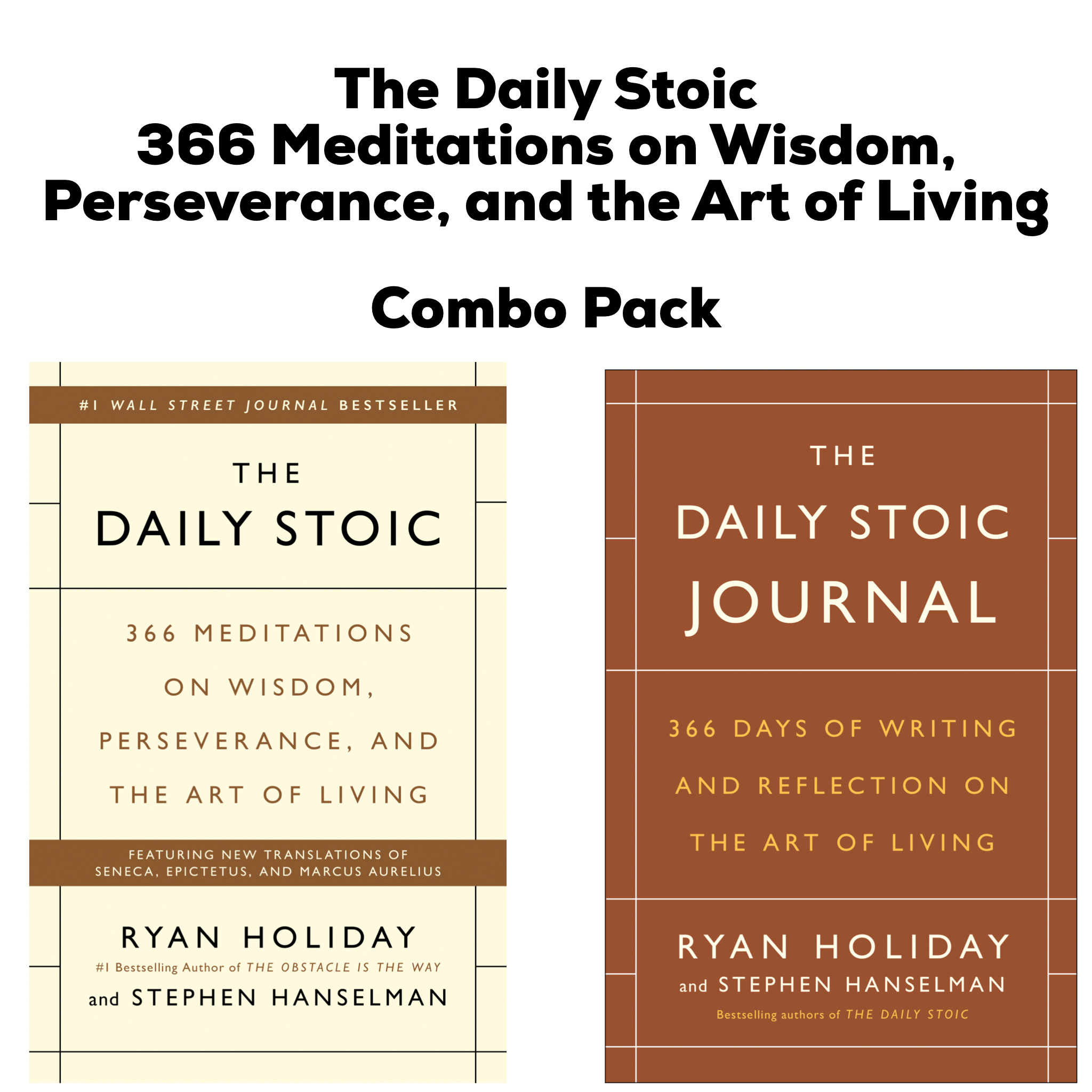 The Daily Stoic Book & Journal Combo Pack by Ryan Holiday