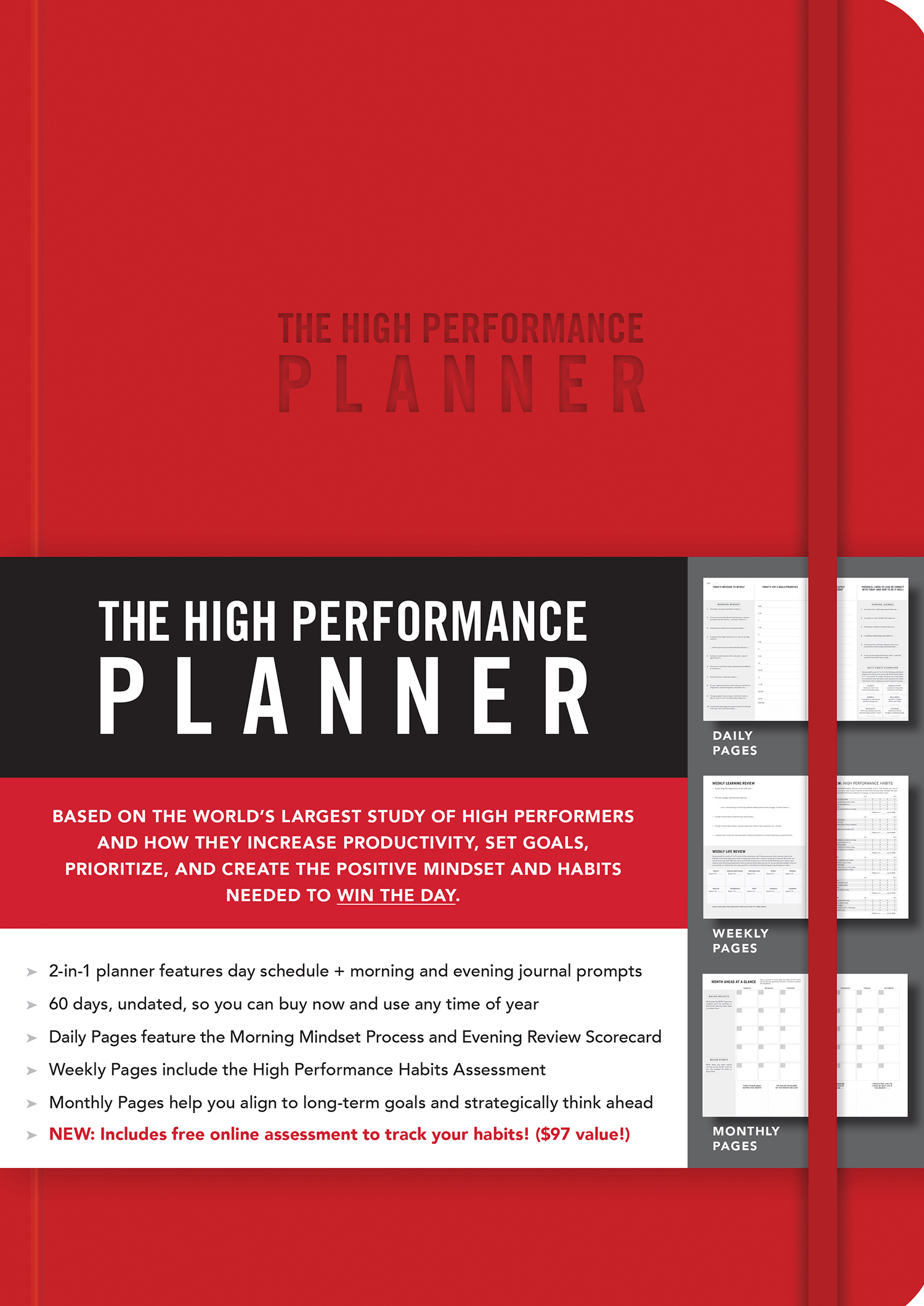 RED The High Performance Planner Written by Brendon Burchard