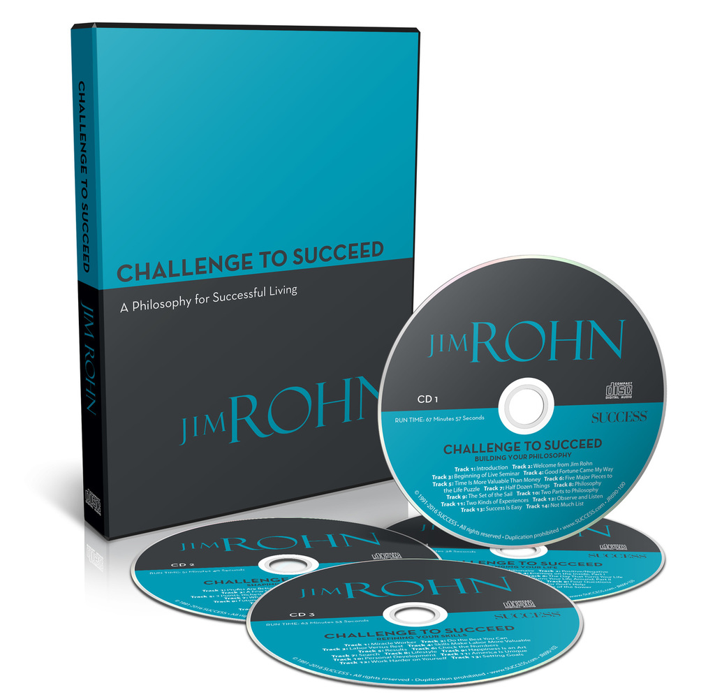 The Challenge to Succeed 4-CD Set by Jim Rohn