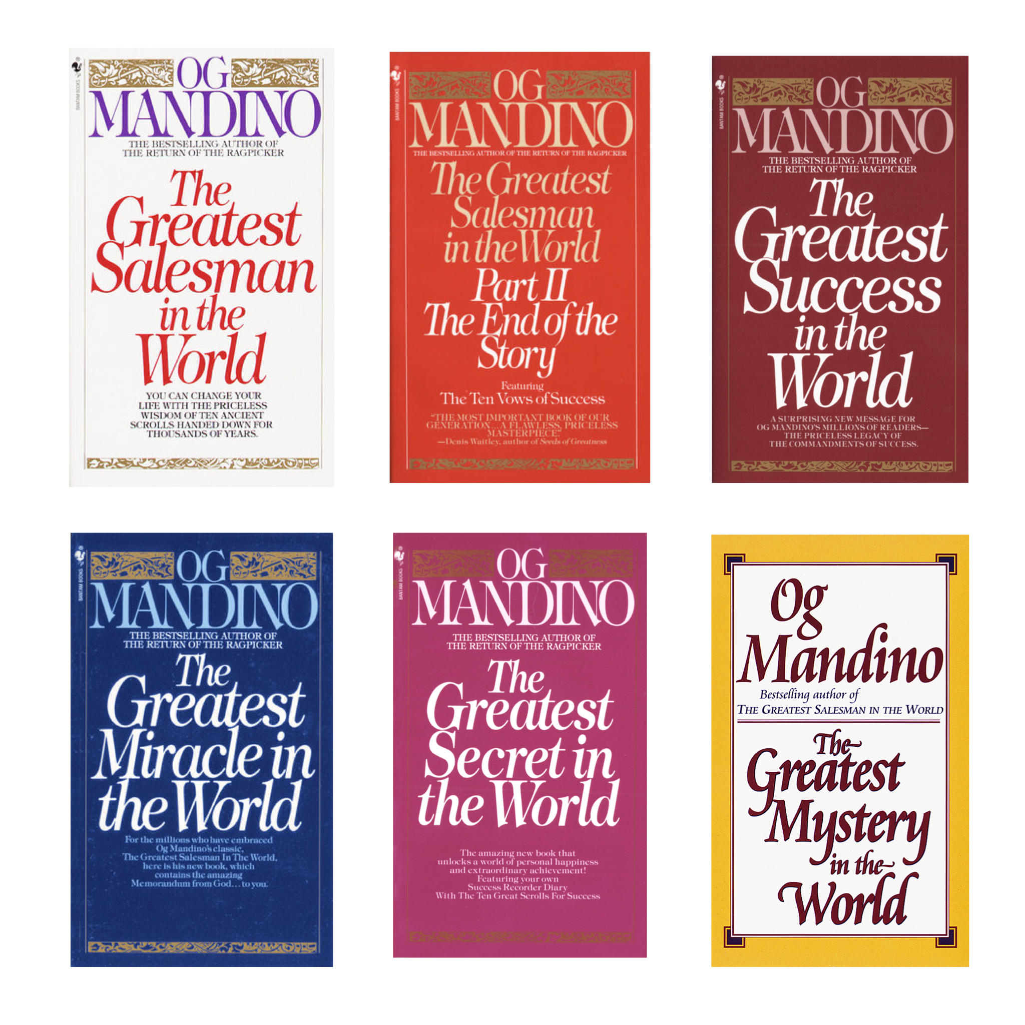 The Greatest in the World Set by Og Mandino