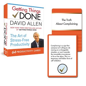 Getting Things Done: 64 Productivity Cards The Art of Stress-Free Productivity  by David Allen
