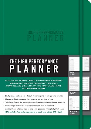 Green The High Performance Planner Written by Brendon Burchard
