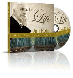 Lessons On Life Gift Book & DVD by Jim Rohn