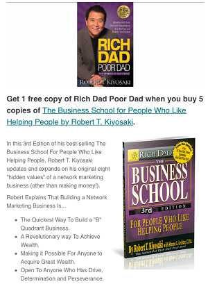 Buy 5 Business School get 1 free Rich Dad Poor Dad Book