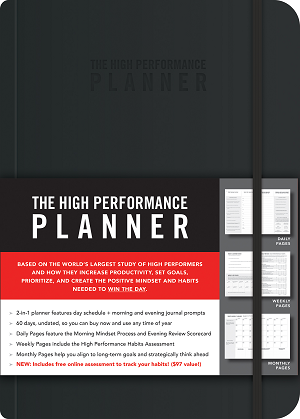 "Available in six different colors  High Performance Planner:192 gorgeous pages. 8.4""x11.5"" 60-day planner with 14 pages of graph paper in the back for notes."